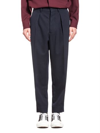 Marni Pants in gabardine with double button cuffs Man