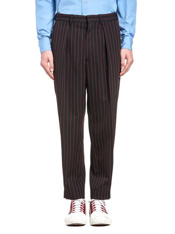 Marni Pants in pinstripe wool gabardine Man