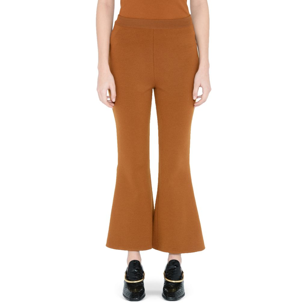 Umber Strong Lines Trousers - STELLA MCCARTNEY