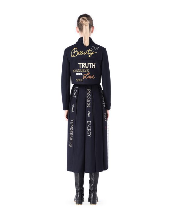 14c80c40d5be REDValentino Embroidered Wool And Tulle Skirt - Midi Skirt for Women ...