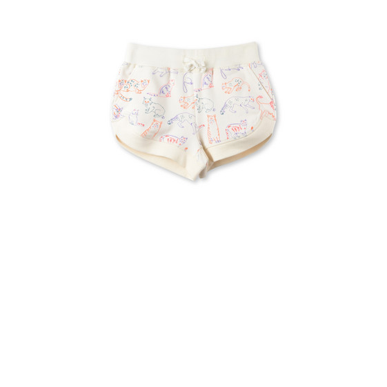 Cleo Cat Print Shorts