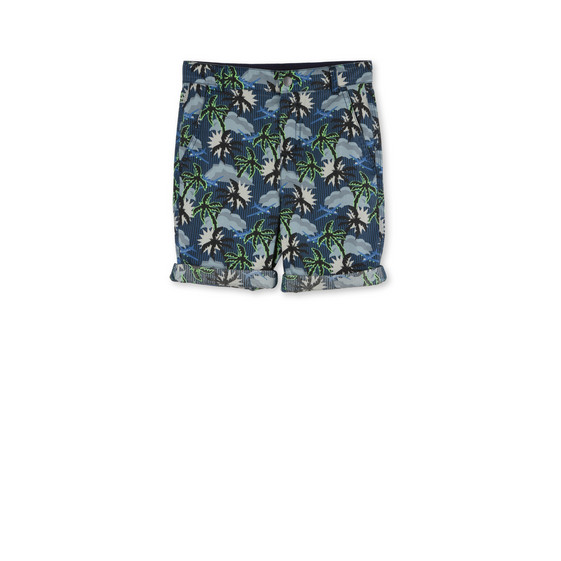Blue Hawaiian Print Lucas Shorts