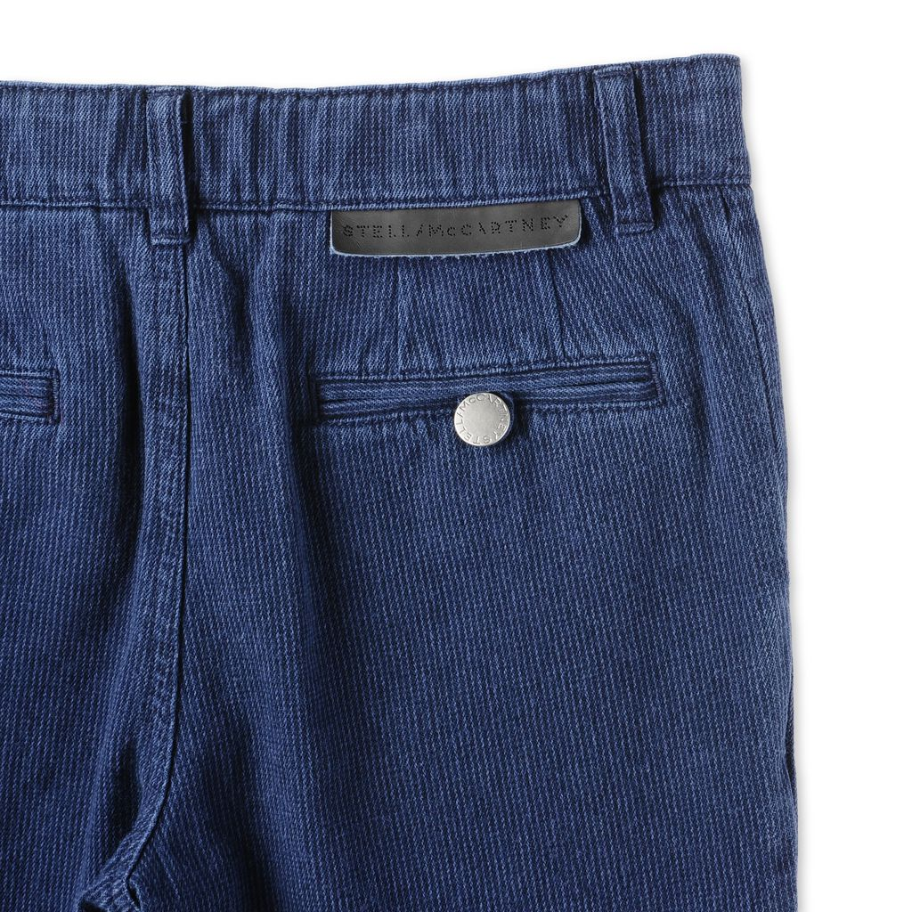 Blue Fitz Trousers  - STELLA MCCARTNEY KIDS