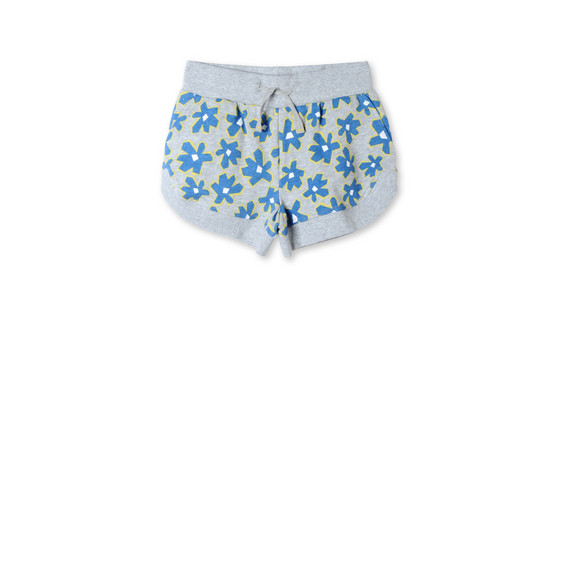 Blue Graphic Flowers Cleo Shorts