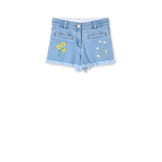 Floral Embroidered Marlin Shorts