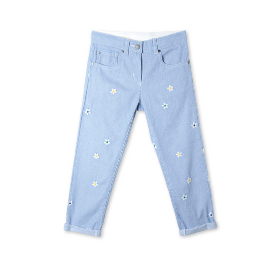 Striped Daisy Lohan Jeans
