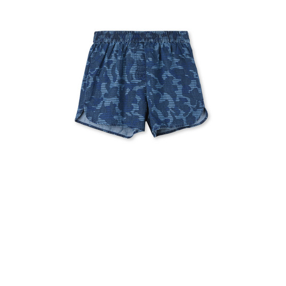 Blue Camo Print Coralle Shorts