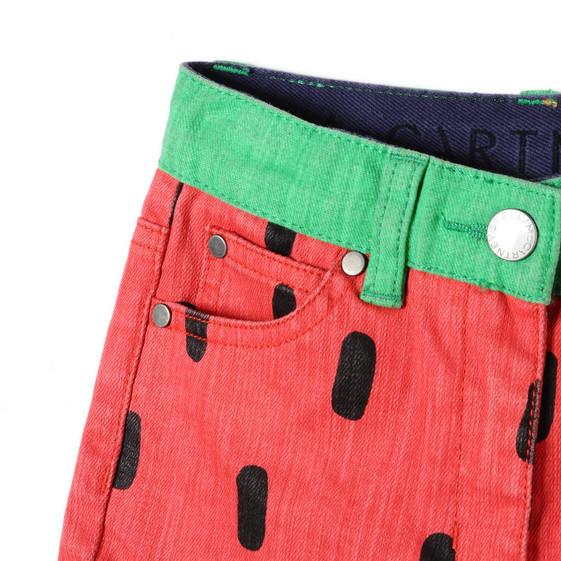 Watermelon Print Hula Shorts