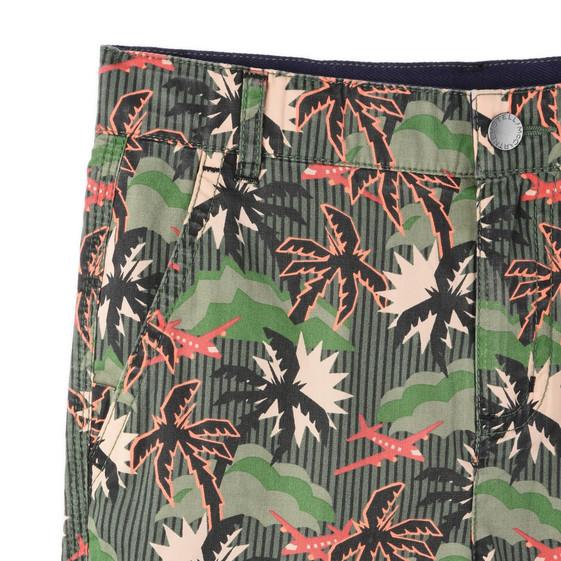 Khaki Hawaiian Print Lucas Shorts