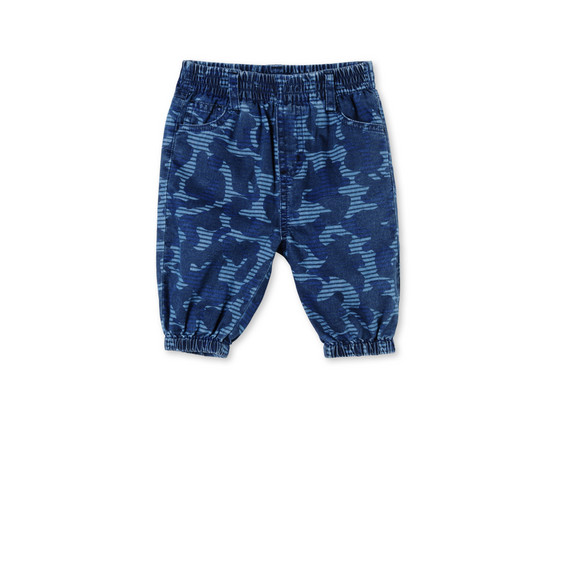Blue Camo Print Pipkin Pants