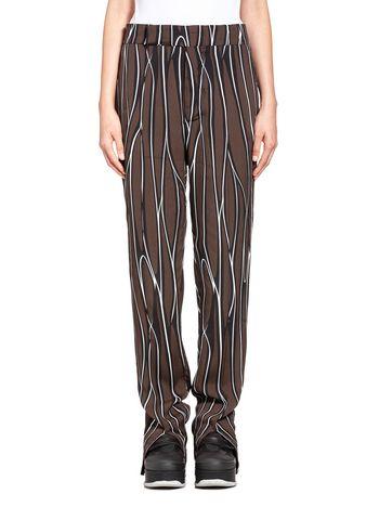 Marni Sablé viscose pants, Trellis print Woman