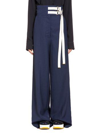 Marni Wool and jute pants with belt Woman
