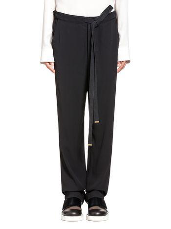 Marni Crêpe-back satin low rise pants Woman