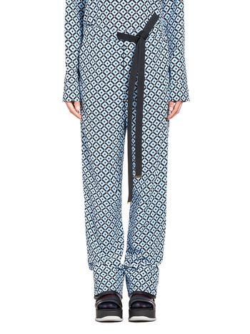 Marni Silk crêpe pants, Tracery print Woman