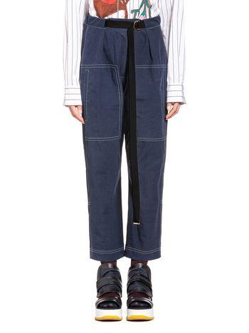 Marni Loose cotton toile pants Woman