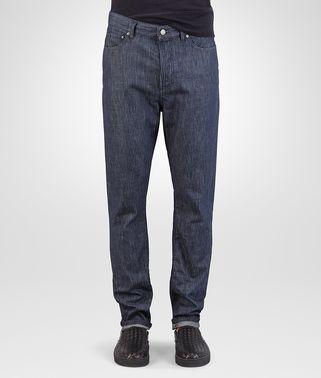 HOSE AUS DENIM IN DARK NAVY MIT LASERDRUCK