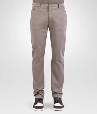 PANT IN STEEL COTTON GABARDINE