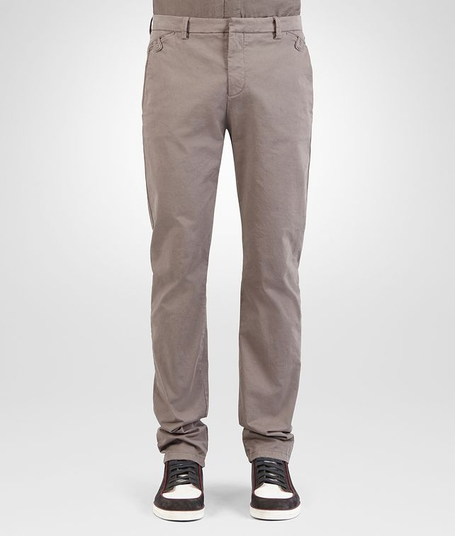 BOTTEGA VENETA PANT IN STEEL COTTON GABARDINE Trouser or jeans Man fp