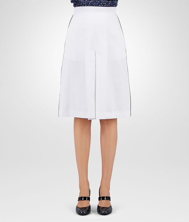 BOTTEGA VENETA SKIRT IN BIANCO COTTON, PIPING DETAIL Skirt or trouser Woman fp
