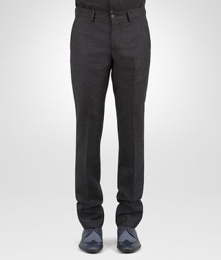 HOSE AUS WOLLE IN DARK NAVY