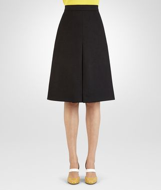 SKIRT IN NERO ORGANIC WOOL