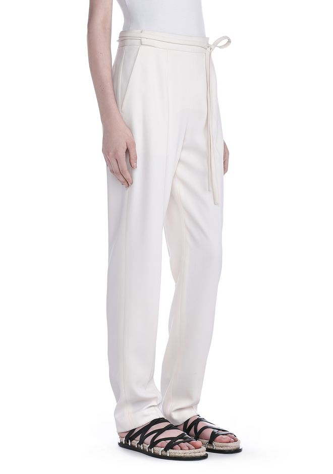 T by ALEXANDER WANG PANTS Women DRAPE POLY TWILL WAIST TIE TROUSERS