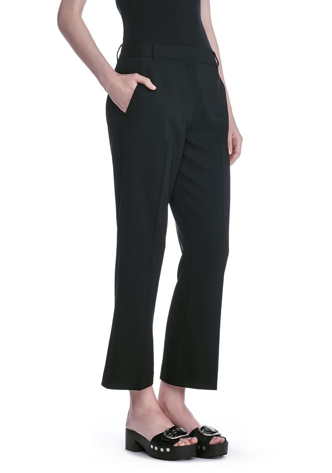 T by ALEXANDER WANG PANTS Women DRAPE POLY TWILL FRONT PLEAT CROPPED TROUSERS
