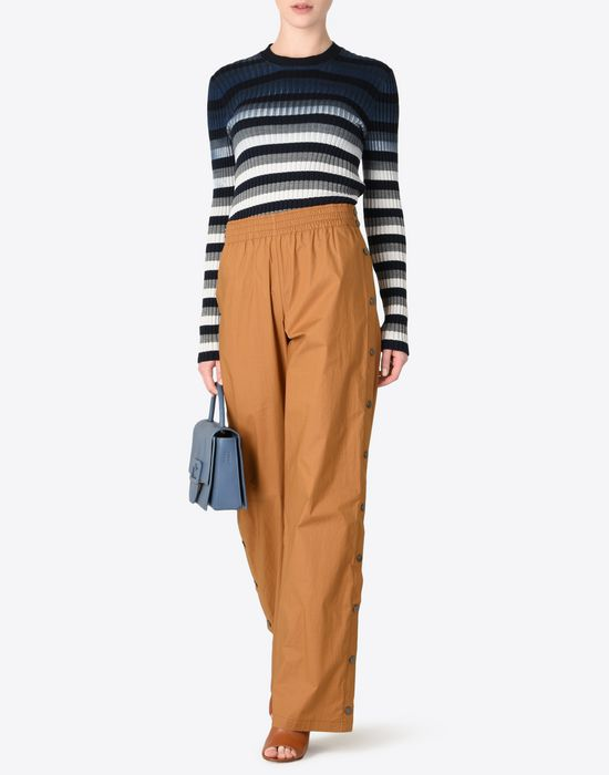 MAISON MARGIELA 1 Poplin trousers with elastic band Casual pants D d