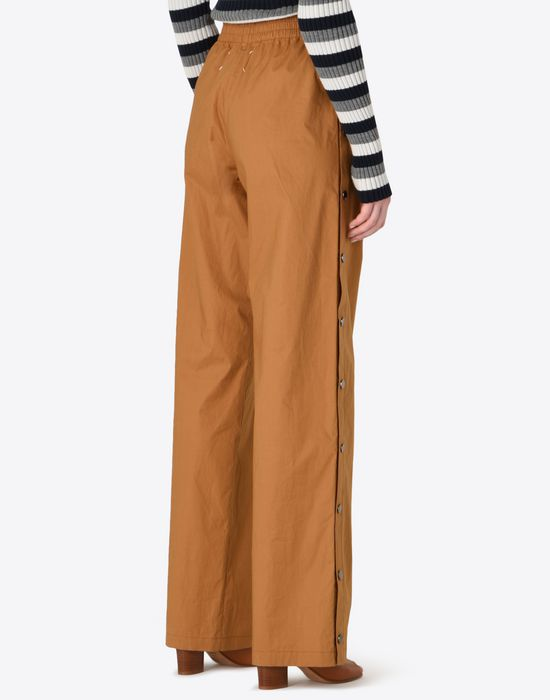 MAISON MARGIELA 1 Poplin trousers with elastic band Casual pants D e