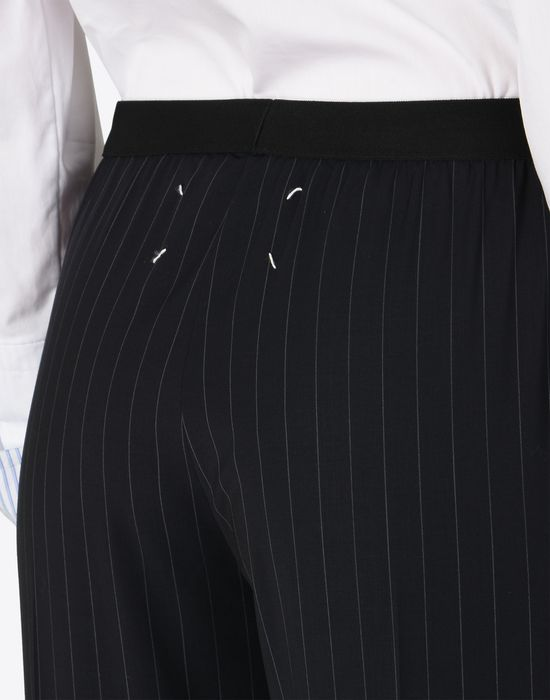 MAISON MARGIELA Pin striped virgin wool trousers Casual pants D b