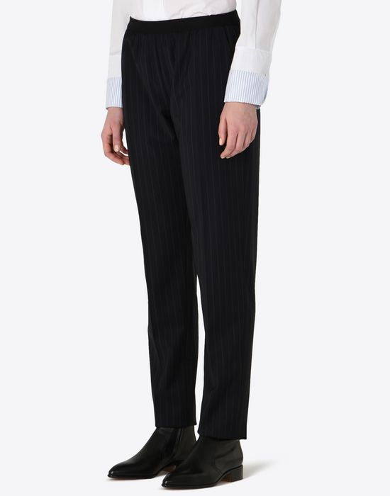MAISON MARGIELA Pin striped virgin wool trousers Casual pants D r