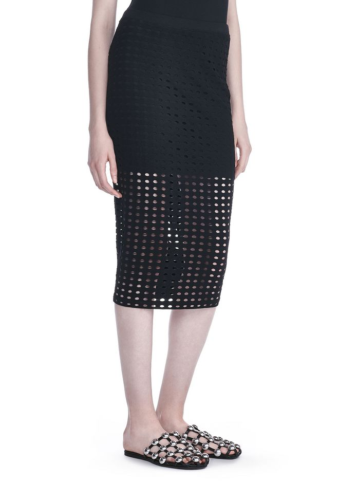 T by ALEXANDER WANG Skirts/DEL Women CIRCULAR HOLE MIDI SKIRT