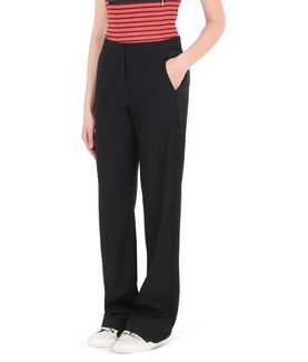 KARL LAGERFELD MATT & SHINE CREPE PANTS