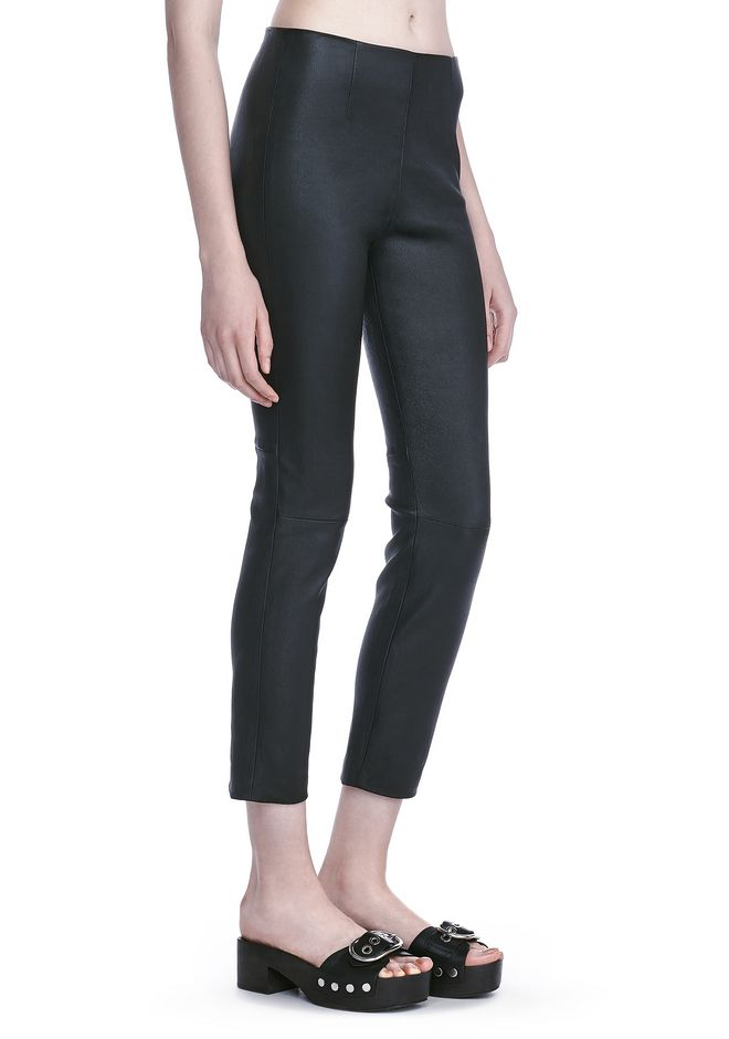 T by ALEXANDER WANG PANTS Women STRETCH LEATHER LEGGINGS
