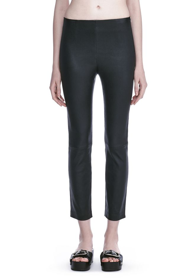 T by ALEXANDER WANG STRETCH LEATHER LEGGINGS  裤装 Adult 12_n_d