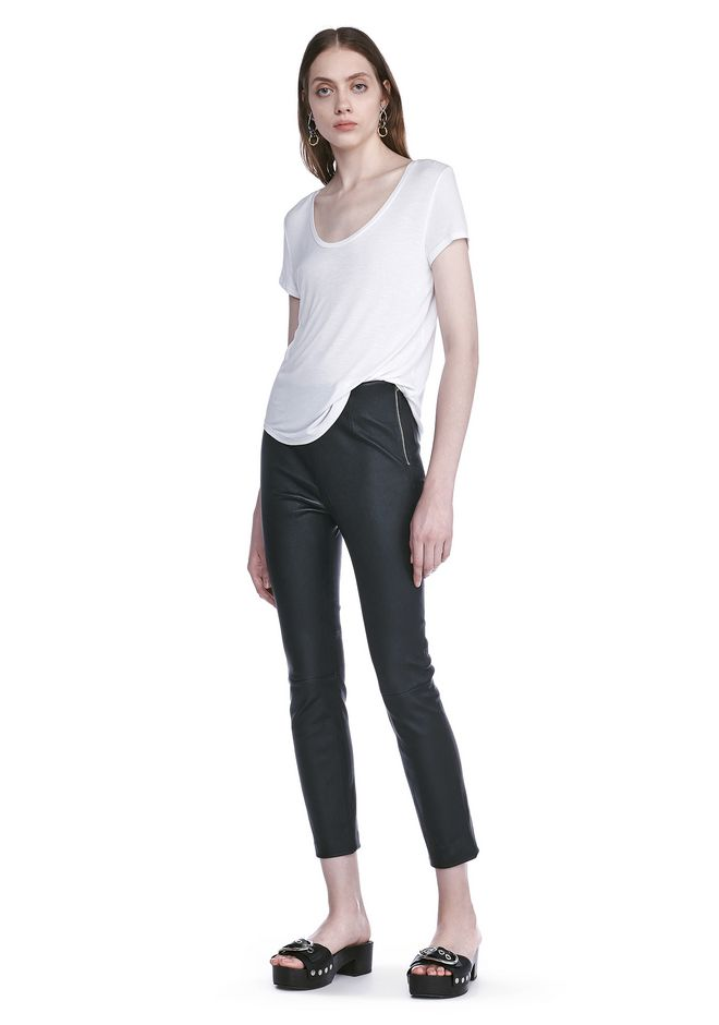 T by ALEXANDER WANG STRETCH LEATHER LEGGINGS  裤装 Adult 12_n_f