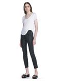 T by ALEXANDER WANG STRETCH LEATHER LEGGINGS  裤装 Adult 8_n_f