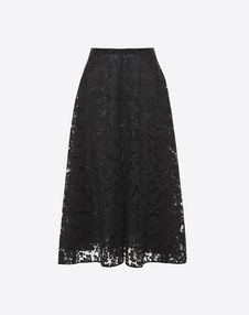 VALENTINO Skirt D Full Heavy Lace Skirt f