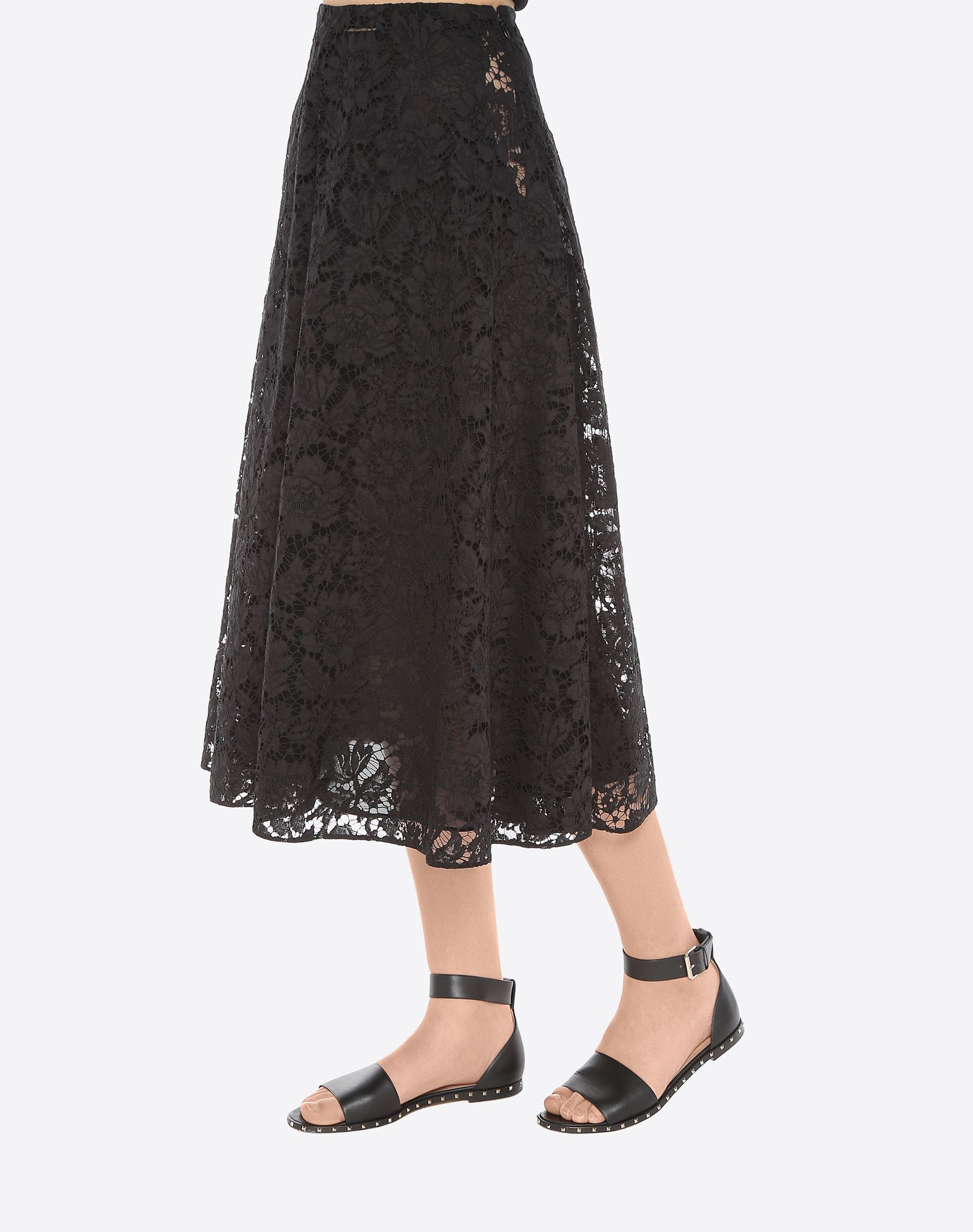 VALENTINO Full Heavy Lace Skirt Skirt D a