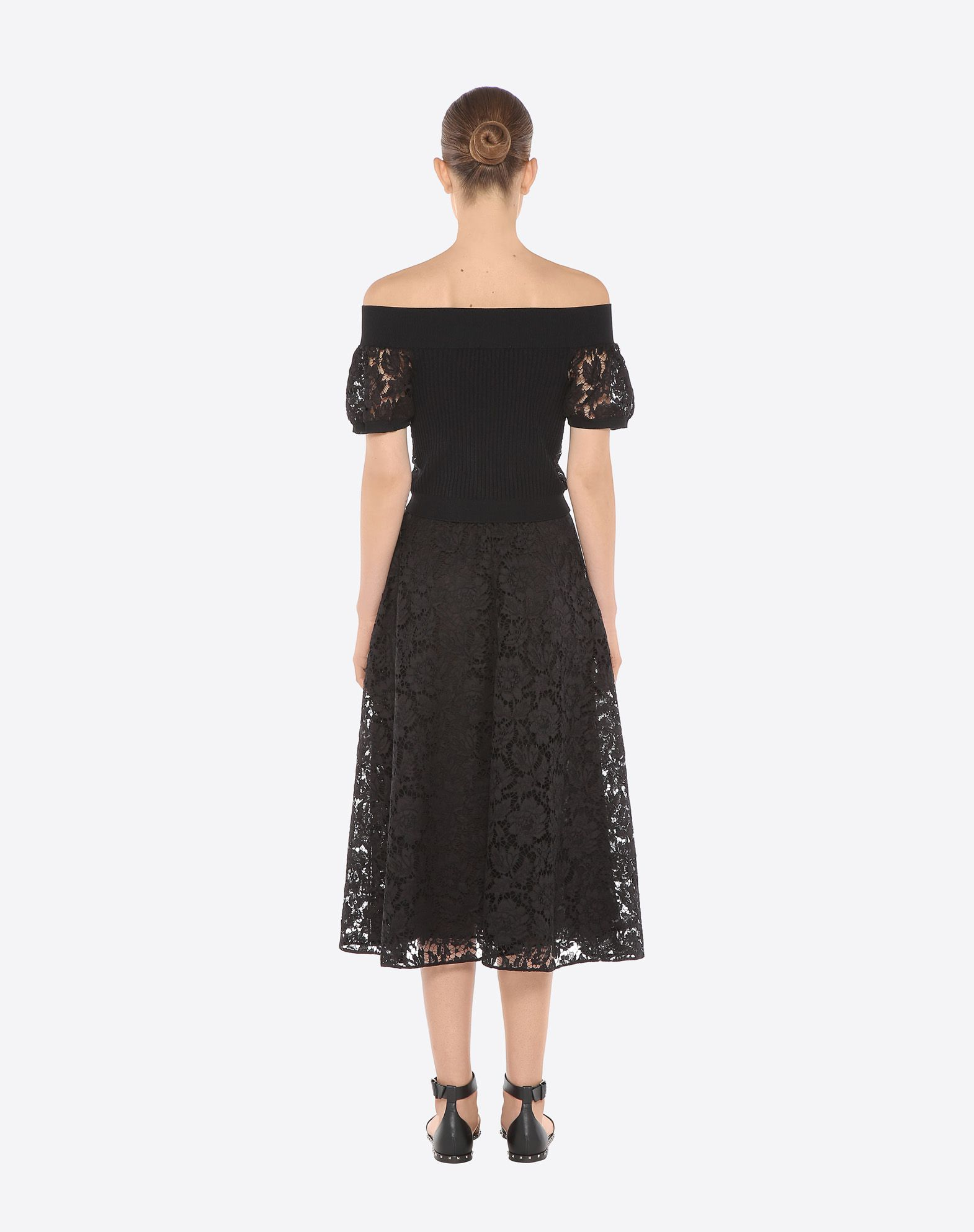 VALENTINO Full Heavy Lace Skirt Skirt D d