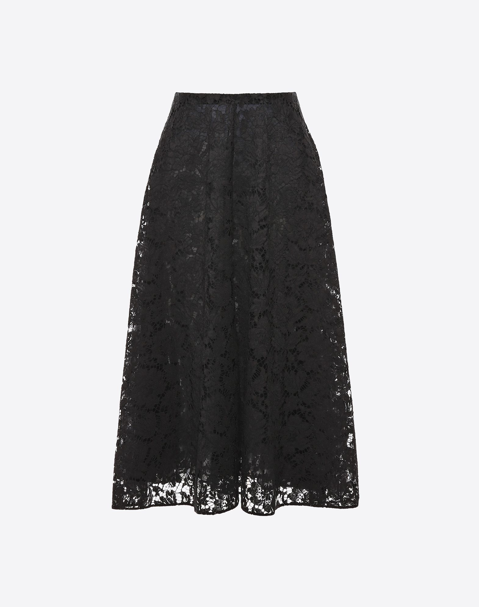 VALENTINO Full Heavy Lace Skirt Skirt D f