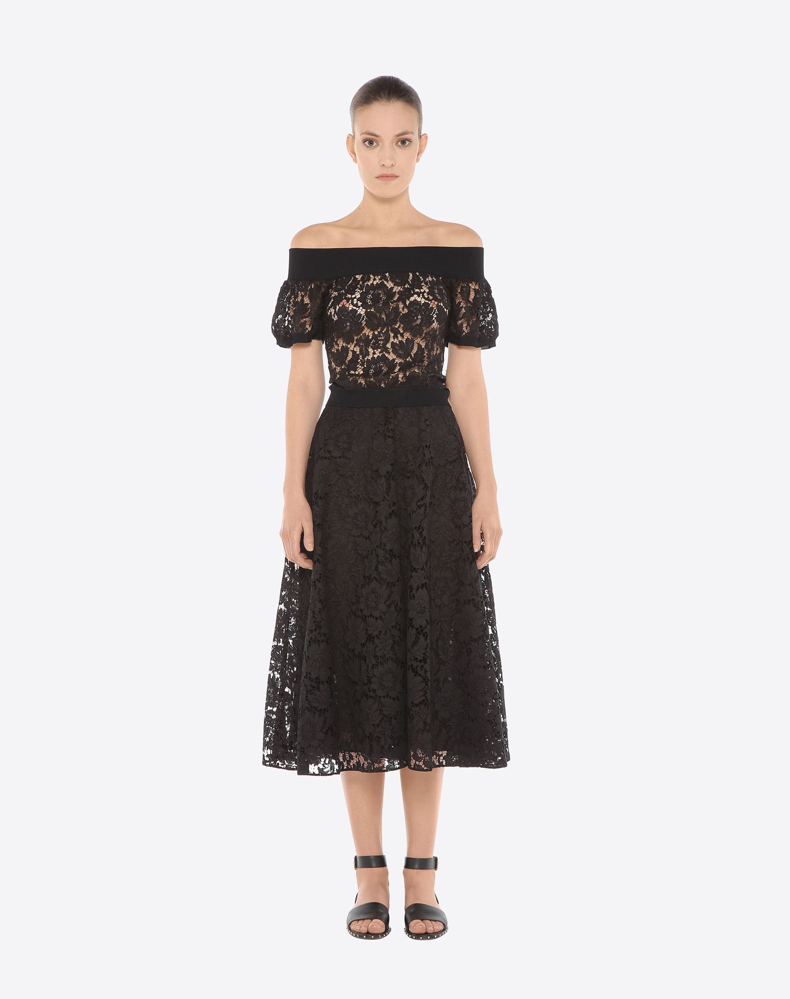 VALENTINO Full Heavy Lace Skirt Skirt D r