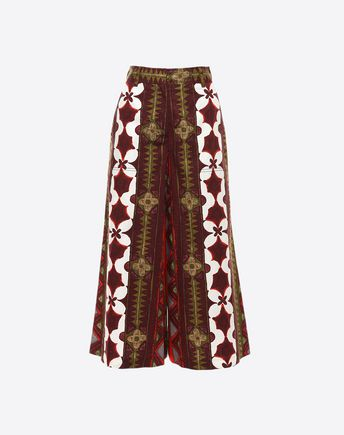 VALENTINO Printed Panama Cotton Trousers 36945920OG