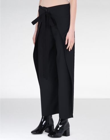 MM6 by MAISON MARGIELA Casual pants D Wool trousers with extra-wide legs f