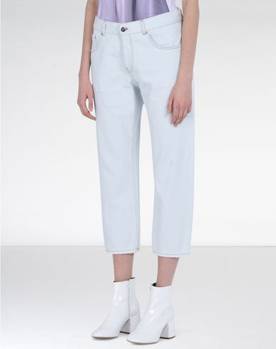 MM6 by MAISON MARGIELA Jeans D Bleached washed denim trousers f