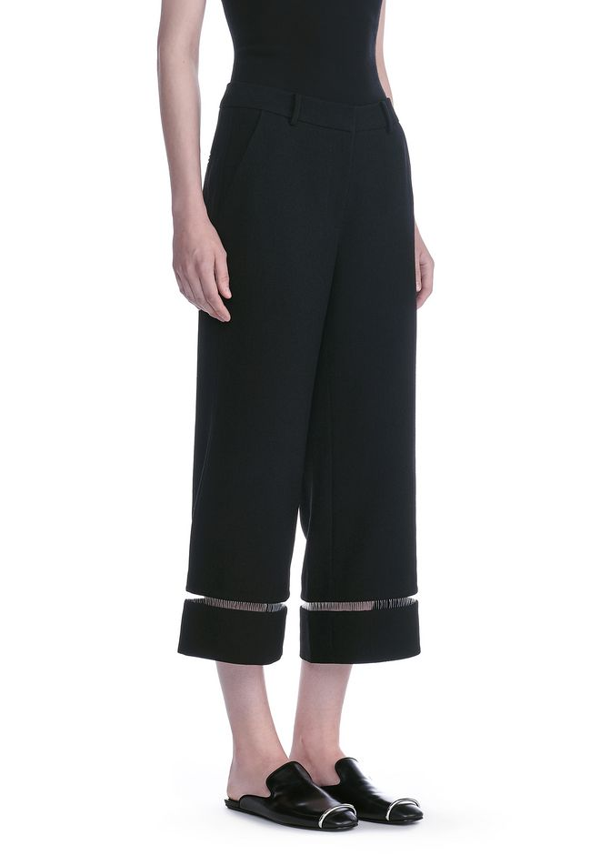 ALEXANDER WANG new-arrivals-ready-to-wear-woman CROPPED PANT WITH FISHLINE TRIM