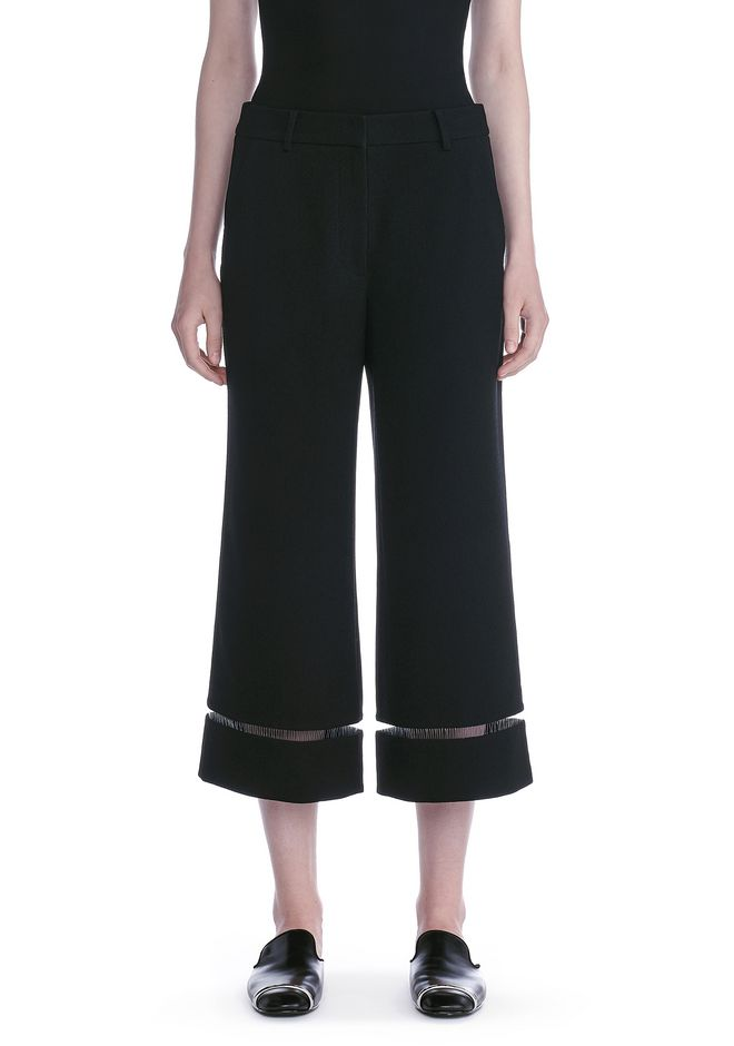 ALEXANDER WANG CROPPED PANT WITH FISHLINE TRIM PANTS Adult 12_n_d