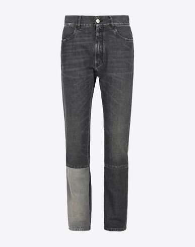 MAISON MARGIELA 10 Jeans U Black vintage jeans with panel details f
