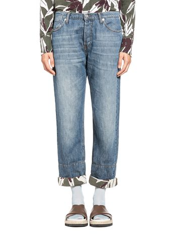 Marni Pants in cotton and linen denim  Woman