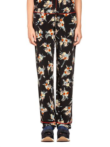 Marni Trousers in silk crepe Rustle print Woman